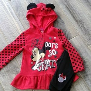 Toddler Girls Mini Mouse Outfit!
